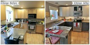 painting cabinets white before and afterPainting Oak Kitchen Cabinets White Before And After Refinishing