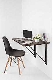 foldable office table. IB Folding Wall Mounted Study Desk, Foldable Laptop/Office Table(Dark Walnut) Office Table