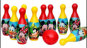 disney bowling set mickey and friends 6 piece indoor outdoor bowling set tiny toy