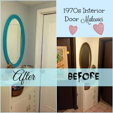update your ugly flat dark interior doors inexpensively with just some wood moulding paint