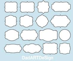 Labels With Border Simple Blank Labels With Double Border 16 Png Hr Files Ready To Use Eps Vector