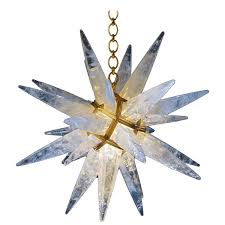rock crystal star chandelier by alexandre vossion for