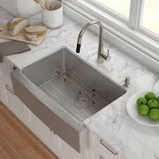 30 x 21 farmhouse kitchen sink with drain assembly