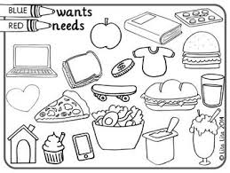 0e28ee8b3e8ce4ff2be18b6ee28e1156 needs and wants worksheet needs and wants activities 15 best images about wants and needs spanish on pinterest around on charitable deductions worksheet