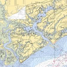 South Carolina Edisto Island Nautical Chart Decor
