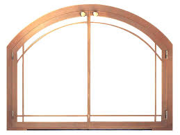 free standing glass fireplace screen custom built in fireplace screens arched glass doors masonry spark guards