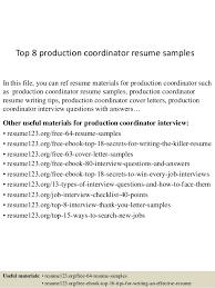 production coordinator resumes top 8 production coordinator resume samples 1 638 jpg cb 1430028063