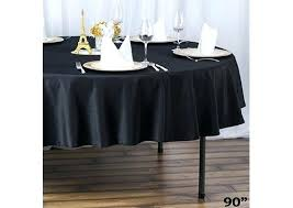 black tablecloth rustic wedding round plastic roll table linen jump party kitchen splendid in cover b