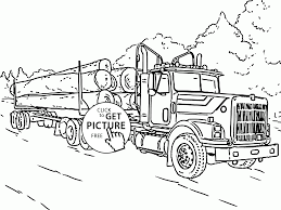 logging coloring pages log truck coloring page for kids transportation coloring pages