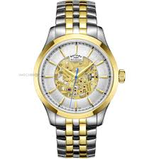 """rotary watches men s ladies rotary watch shop comâ""""¢ mens rotary mecanique skeleton automatic watch gb05033 06"""