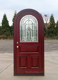 arched front doorMahogany Round Top Door  African Mahogany Doors  Arched Round