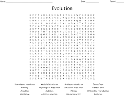 Artificial selection is also called selective breeding and unnatural selection. 2. Evolution By Natural Selection Word Search Wordmint