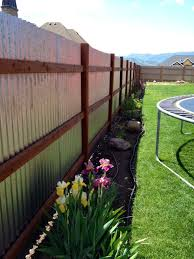 corrugated metal fence.  Fence Corrugated Fence Using Metal Building Brackets 8ft Spacing Throughout Corrugated Metal Fence