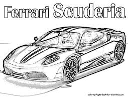 Ferrari Coloring Book Ferrari Coloring Book Printable Coloring