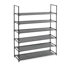 Home Basics 10 Tier Coated Non Woven Shoe Rack 100Tier Storage Shoe Rack from Bed Bath Beyond could hold a lot of 22