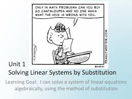 ppt unit 1 solving linear systems by