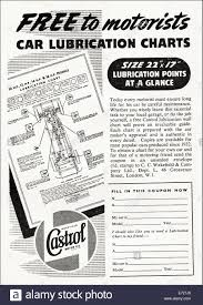 Castrol Oil Chart 1940s Advertisement For Castrol Motor Oil Car Lubrication