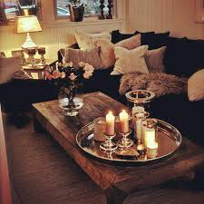 Small Picture LightingCozy Living Room Sofa Candles Lighting Ideas Small Table