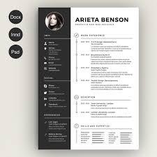 Modern Resume Graphic Design Creative Design Resumes Nguonhangthoitrang Net