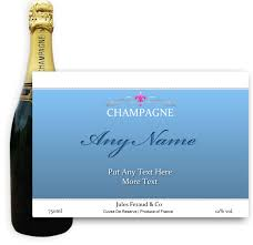 send personalised chagne jules feraud brut blue label gift