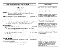 engineering students resume pdf format free template unigraphics designer resume