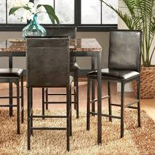 Inspire Q Darcy Metal Upholstered Counter Height Dining Chairs Set of 4  Kitchen | eBay