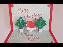 Diy Paper Craft How To Make An Easy Handmade Christmas Pop Up Greeting Card