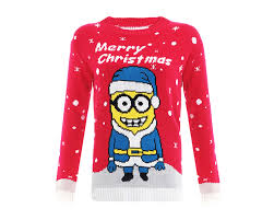 Red Christmas Jumper in Minion design - Christmas Jumpers
