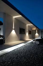 fireplace outdoor recessed wall lighting lights external garden outside led fixtures best exterior ideas photo