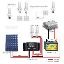 diagram of a typical solar lighting kit