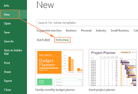 Word 2013 Custom Templates Excel Templates How To Make And Use Templates In Microsoft Excel