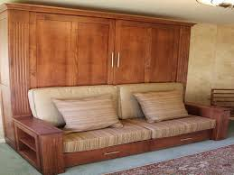 image of murphy bed couch combo with side table