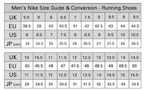 Kobe Sportswear Size Chart Nike Size Chart