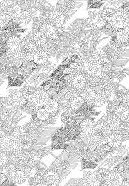 Kimono Kyoto Adult Coloring Pages 塗り絵和柄伊勢 型紙