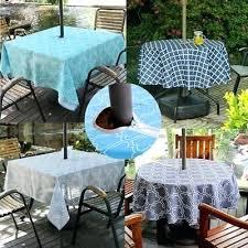 umbrella tablecloth with zipper outdoor patio tablecloth with umbrella hole and zipper water stain resistant umbrella