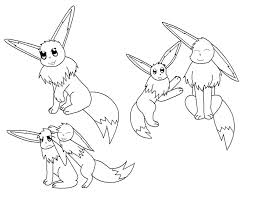 Small Picture Printable Pokemon Coloring Pages Eevee Evolutions 3293 Pokemon