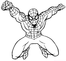 Spiderman The Dashing Coloring Picture For