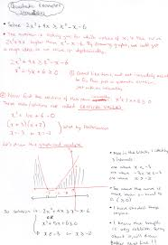 solving quadratic inequalities notes