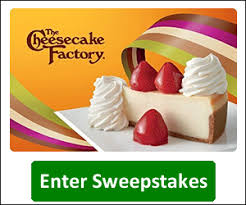 cheesecake factory gift card from kudosz gift baskets sweepstakes