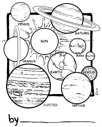 Small Picture Printable Solar System Coloring Sheets for Kids