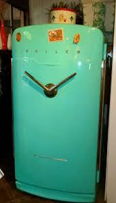 Vintage Classic Refrigerators, Turquoise Philco V 8 Symbol
