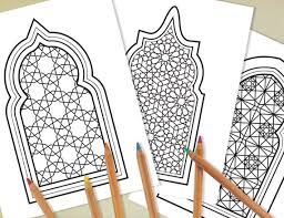 Engage your students with these ramadan printable worksheets. 3 Printable Colouring Page With Islamic Geometric Design Etsy
