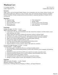 Graphic Designer Resume Sample Examples Of Resumes Example Cv Sample Resume For Students Short 100