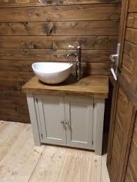 stylish modular wooden bathroom vanity. CHUNKY RUSTIC PAINTED BATHROOM SINK VANITY UNIT WOOD SHABBY CHIC *Farrow\u0026Ball*   EBay Stylish Modular Wooden Bathroom Vanity