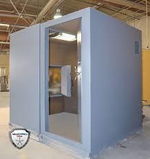 looking thru the vault door u0026 escape hatch of a modular walk in shelter safe room l43 safe