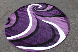 round purple contemporary area rug
