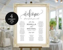 Wedding Seating Chart Welcome Seating Chart Template