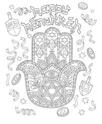 Happy Hanukkah Coloring Pages Free Coloring Sheets