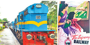 yal devi express train from colombo to jaffna railway adver from the golden era