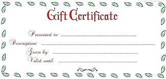 Microsoft Word Gift Certificate Templates Gift Certificate Template Mac
